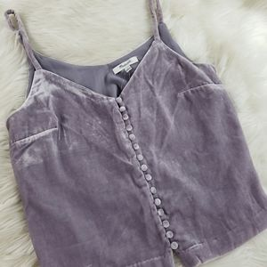 Madewell Purple Velvet Like Top Size 2